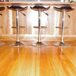 Polished timber floors in the kitchen and living area