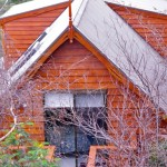 The cottage has a steep-pitched roof but inside it has plenty of room to move.