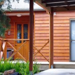 The cedar weatherboards look good and are durable.