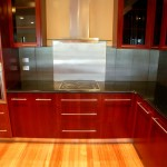 Timber floor, timber cupboards and quality appliances