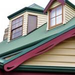 Dormer windows and timber trim details