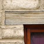 Reclaimed timber window lintel