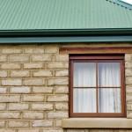 Reclaimed timber window lintels